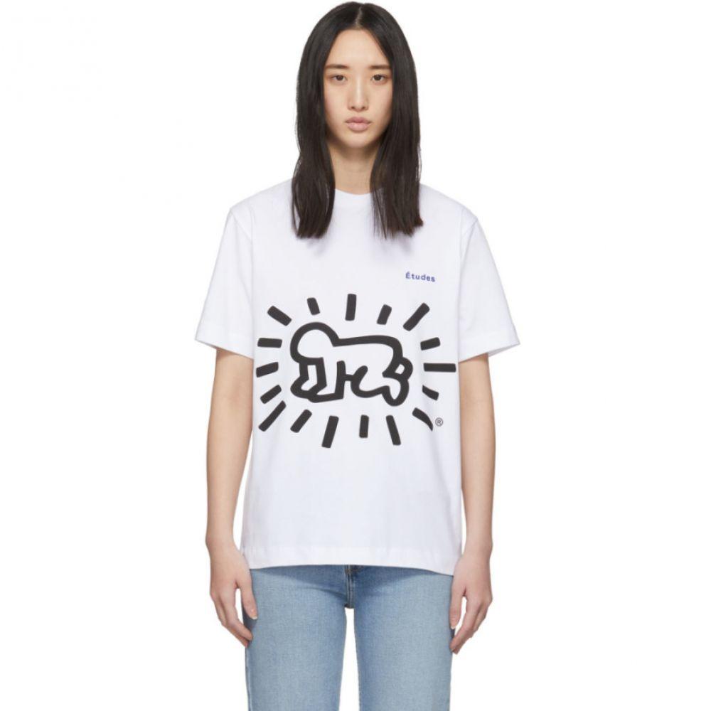 エチュード Etudes レディース Tシャツ トップス【White Keith Haring Edition Wonder T-Shirt】White
