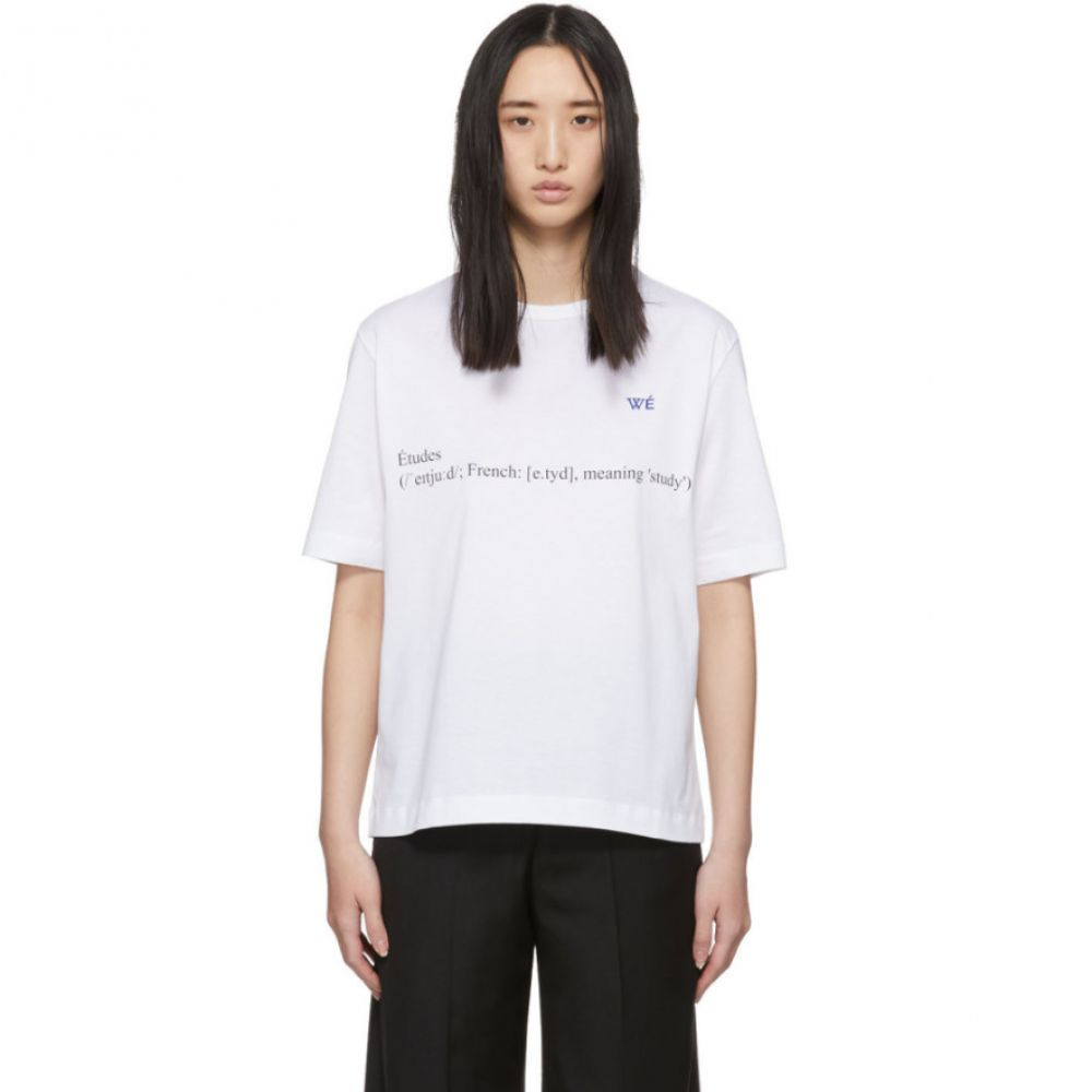 エチュード Etudes レディース Tシャツ トップス【White Wikipedia Edition Unity Definition T-Shirt】White