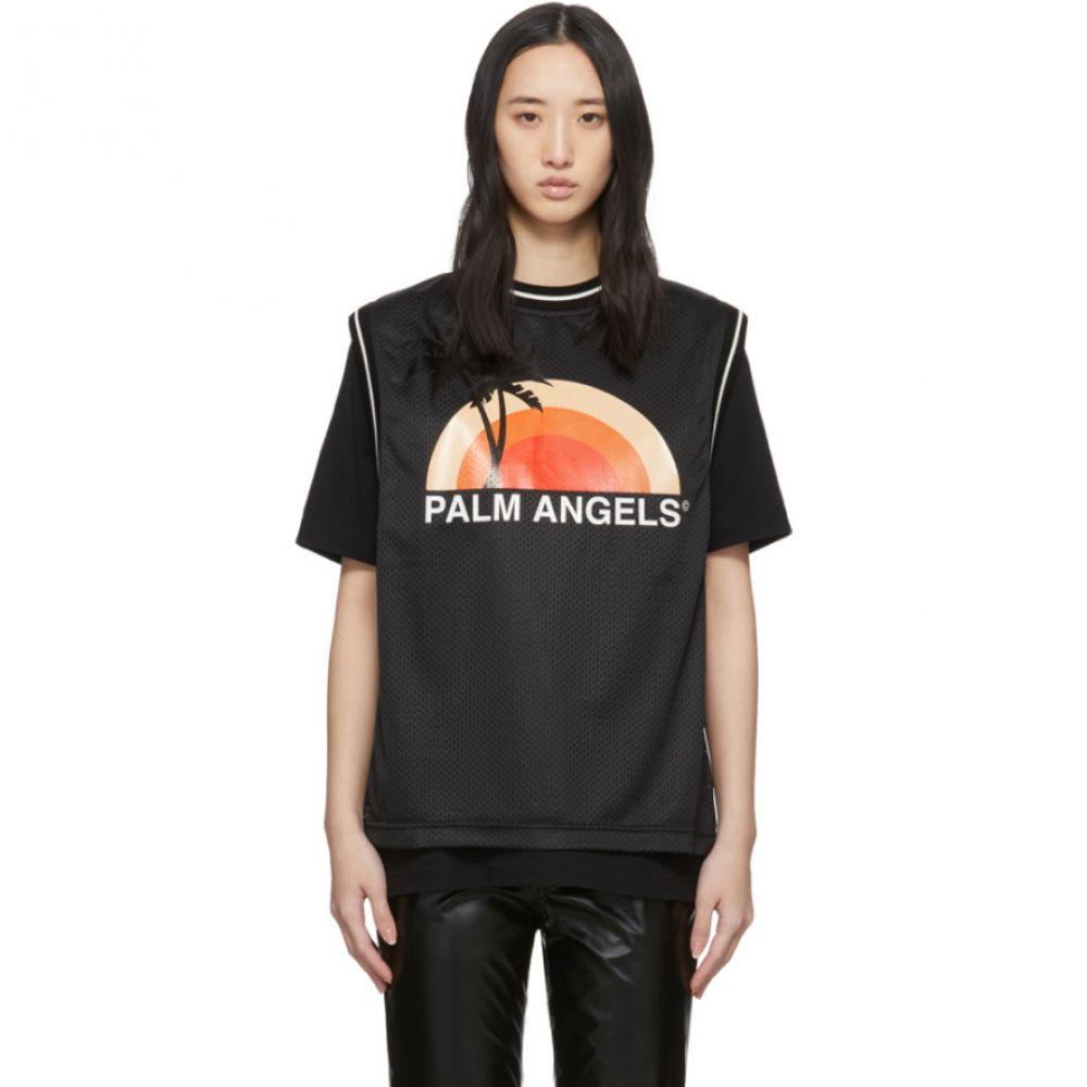 パーム エンジェルス Palm Angels レディース Tシャツ トップス【Black Layered Sunset T-Shirt】Black/Multi