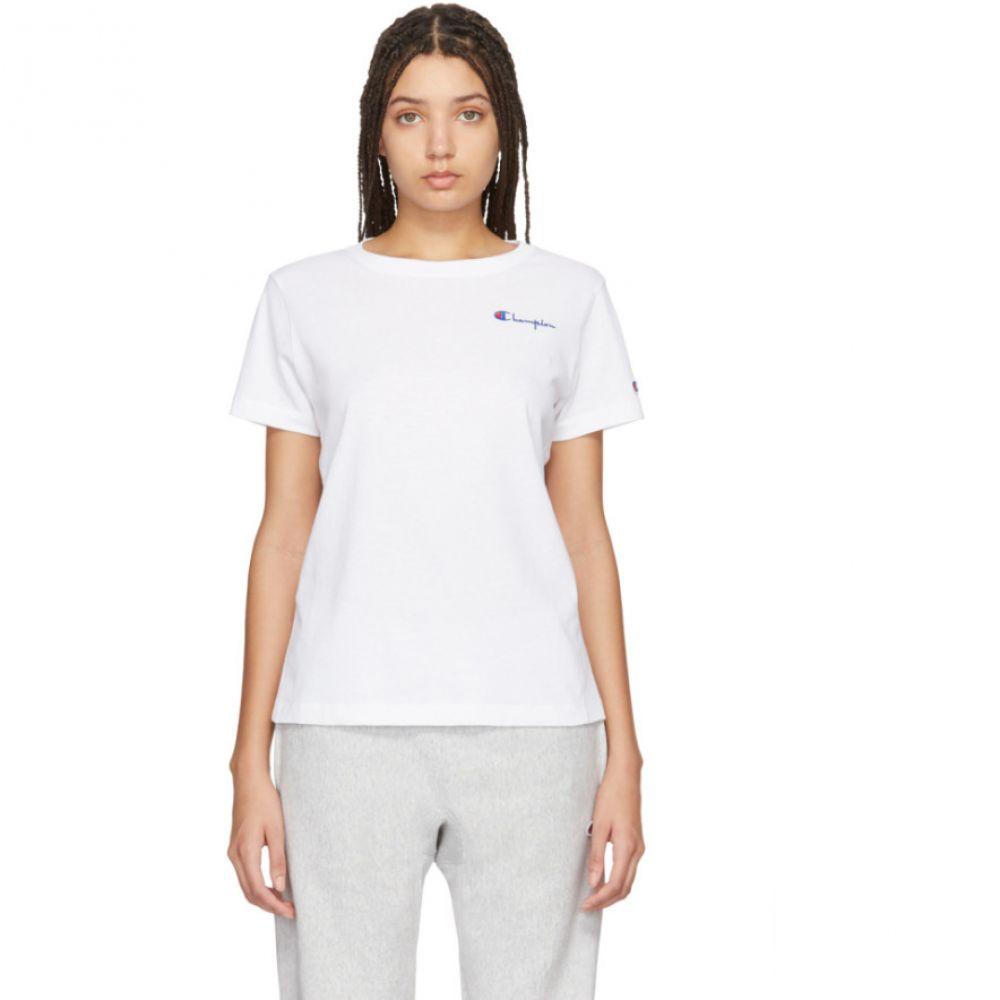 チャンピオン Champion Reverse Weave レディース Tシャツ トップス【White Small Script T-Shirt】White