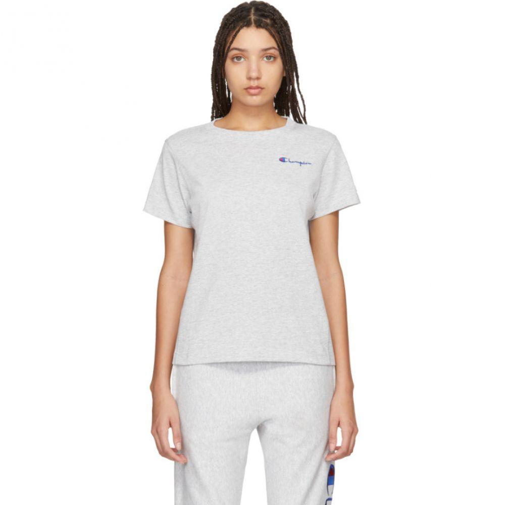 チャンピオン Champion Reverse Weave レディース Tシャツ トップス【Grey Small Script T-Shirt】Grey