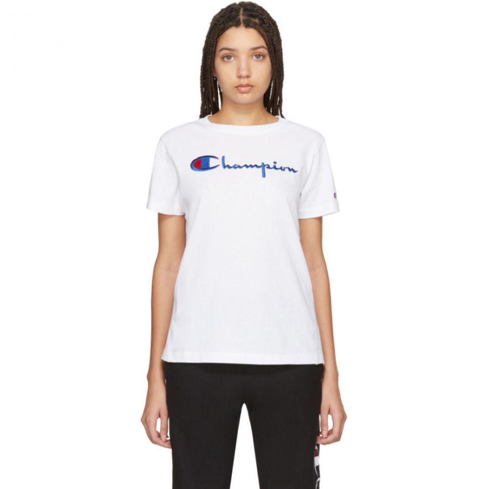 チャンピオン Champion Reverse Weave レディース Tシャツ トップス【White Big Script T-Shirt】White
