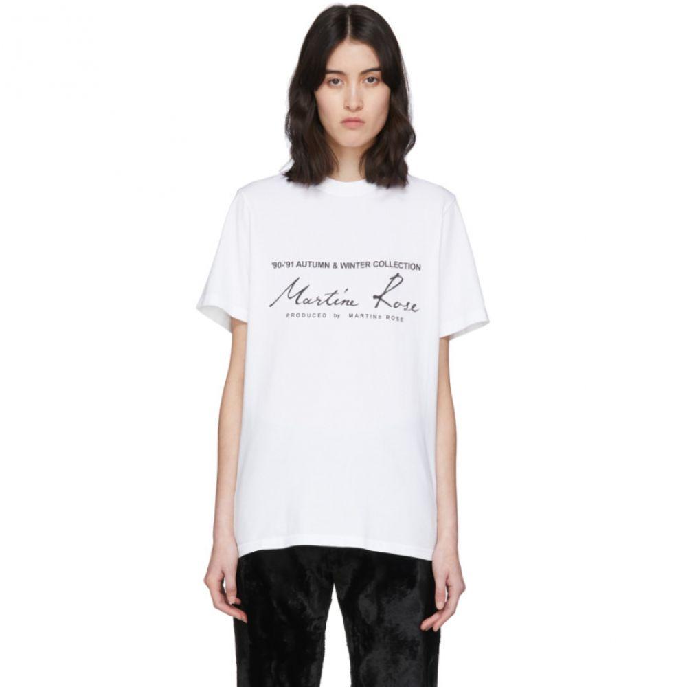 マーティン ローズ Martine Rose レディース Tシャツ トップス【White Classic T-Shirt】White