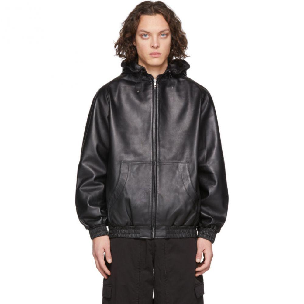 ランダム アイデンティティーズ Random Identities メンズ レザージャケット アウター【Black Leather Jacket】Black