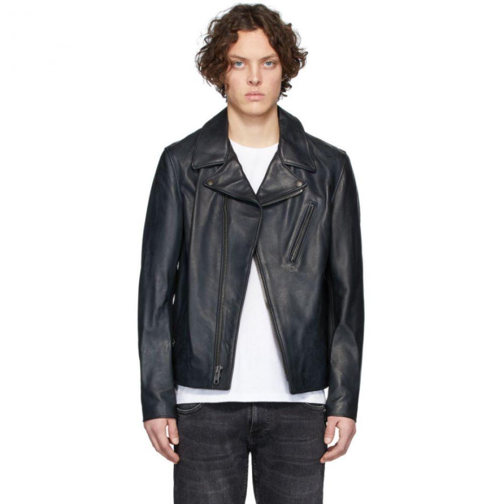 ショット Schott メンズ レザージャケット モーターサイクルジャケット アウター【Black Lightweight Cowhide Motorcycle Jacket】Black