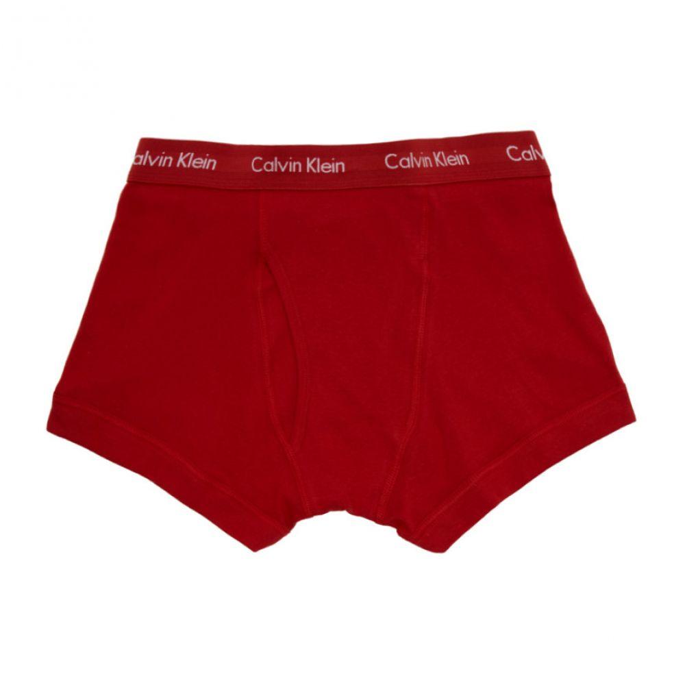カルバンクライン Calvin Klein Underwear メンズ ボクサーパンツ インナー・下着【Three-Pack Multicolor Core Plus Boxer Briefs】Red/Grey/Navy