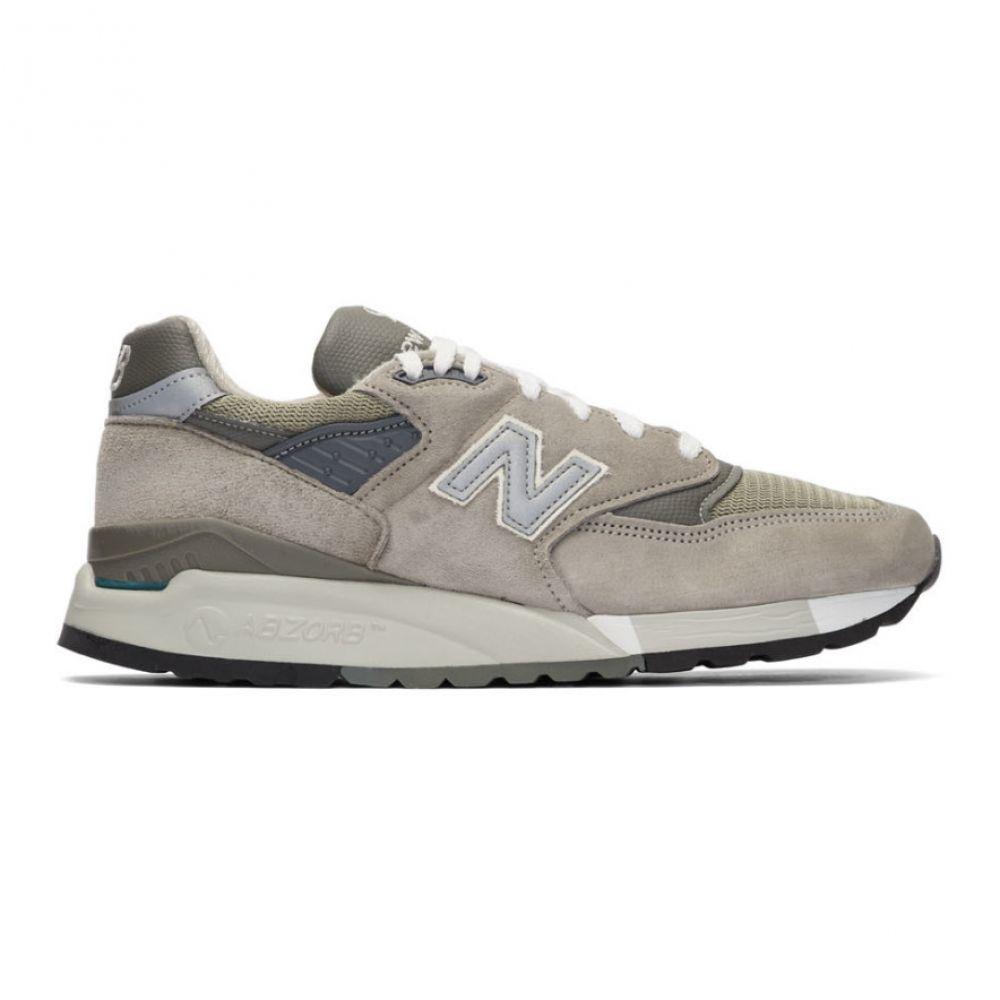 ニューバランス New Balance メンズ スニーカー シューズ・靴【Grey Made In US M998 Sneakers】Grey