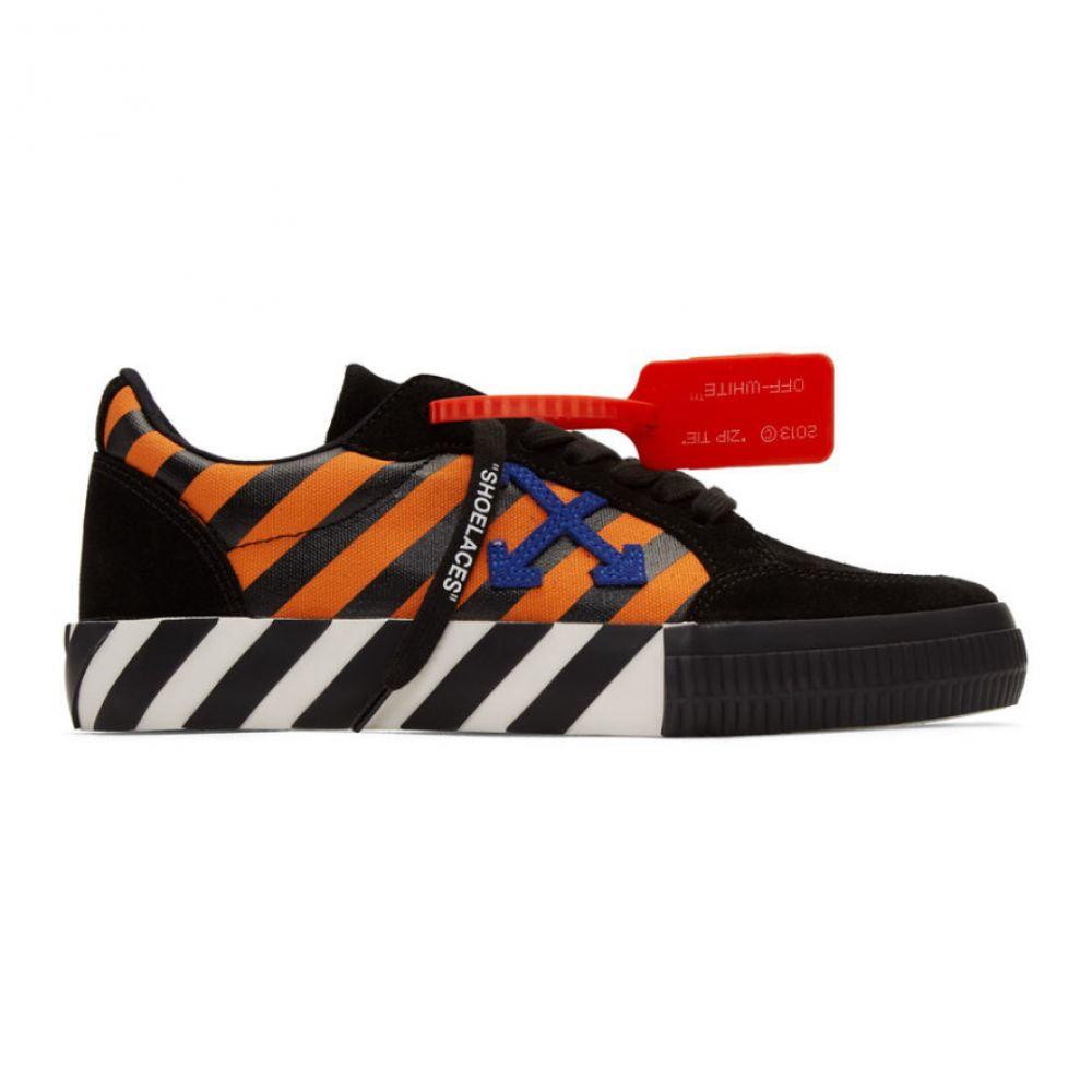 オフホワイト Off-White メンズ スニーカー シューズ・靴【Black & Orange Diag Low Vulcanized Sneakers】Orange/Blue