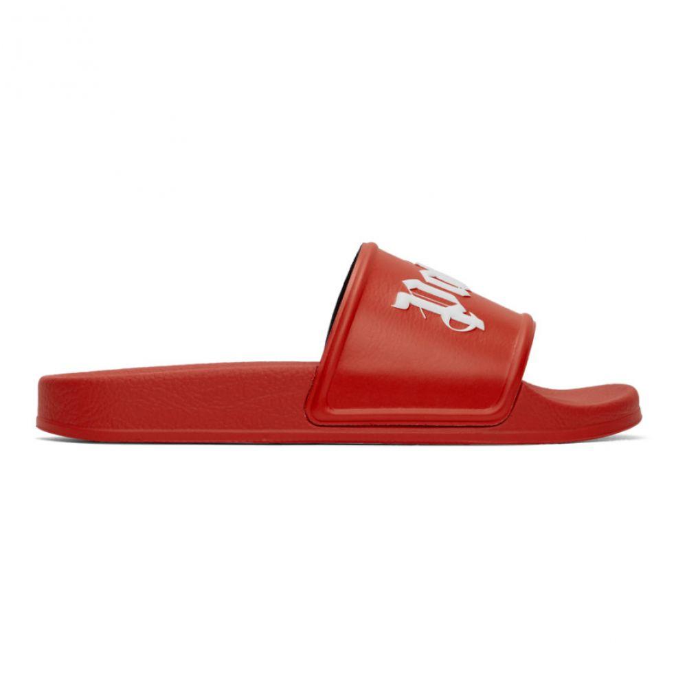 パーム エンジェルス Palm Angels メンズ サンダル シューズ・靴【Red Logo Slides】Red