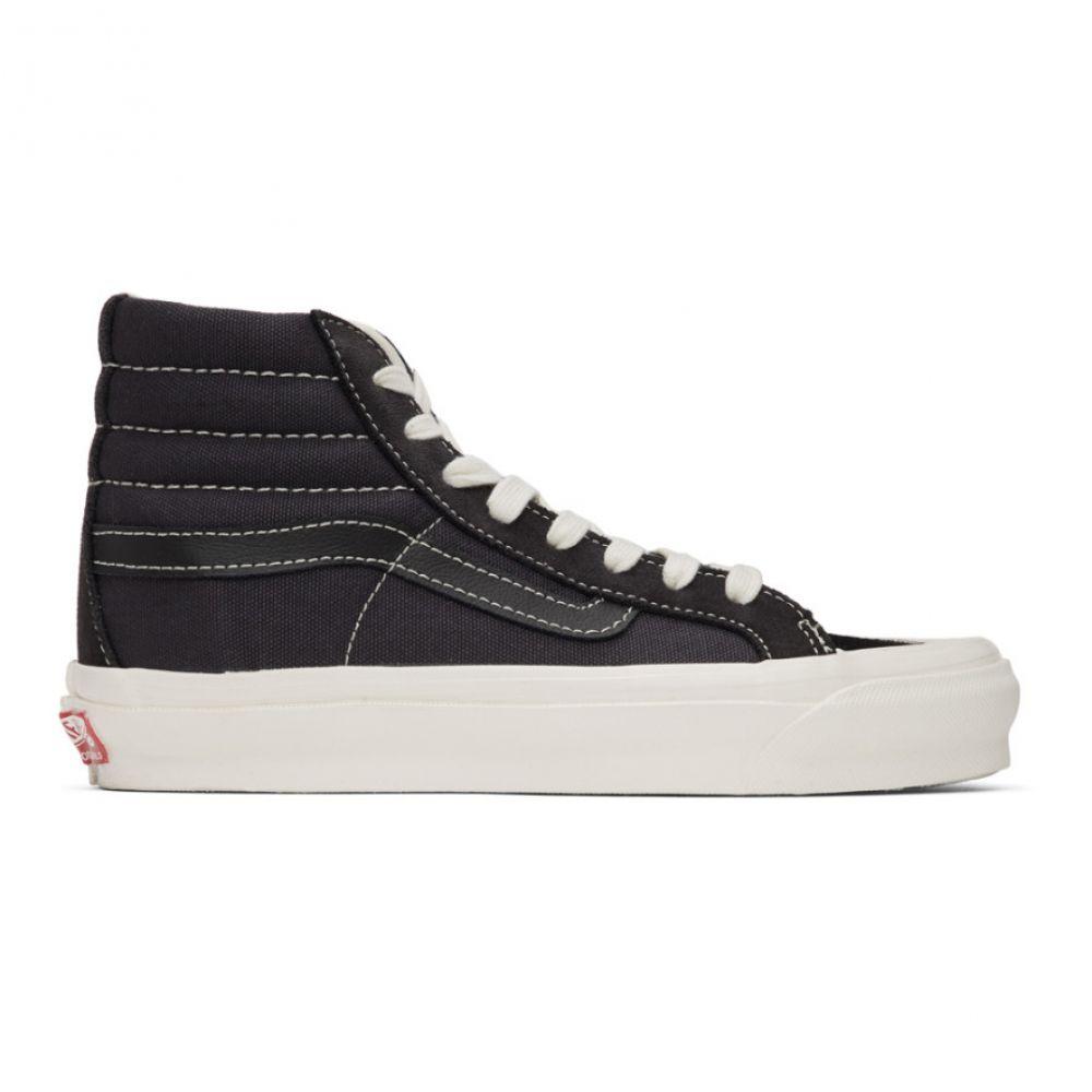 ヴァンズ Vans メンズ スニーカー シューズ・靴【Black Suede OG 138 LX High-Top Sneakers】Asphalt