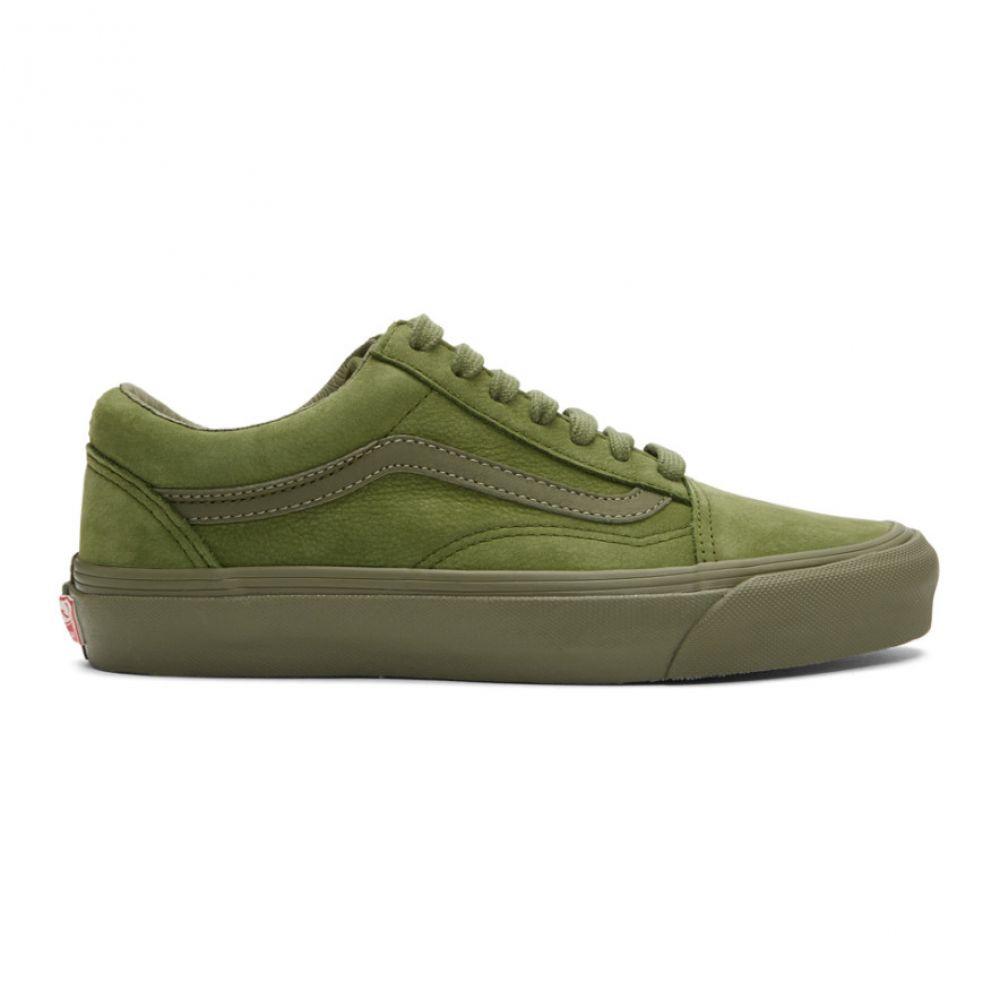 ヴァンズ Vans メンズ スニーカー シューズ・靴【Green Nubuck Old Skool LX Sneakers】Pesto
