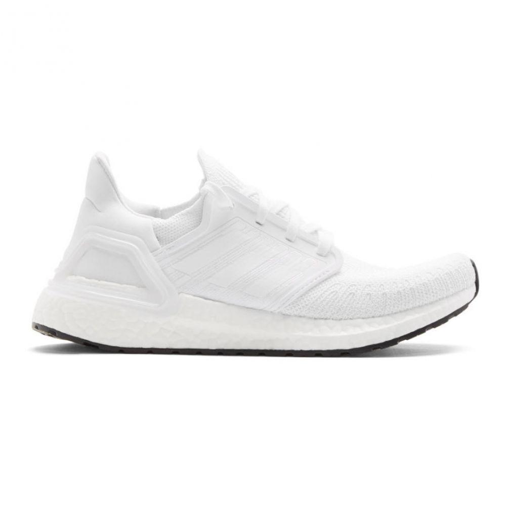 アディダス adidas Originals メンズ スニーカー シューズ・靴【White Ultraboost 20 Sneakers】Cloudwhite/Cloud white/Core black