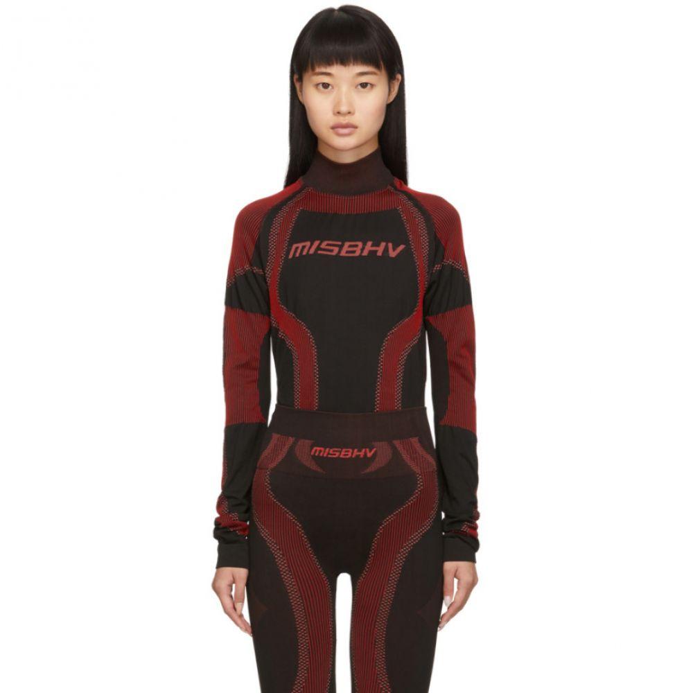 ミスビヘイブ MISBHV レディース ニット・セーター トップス【SSENSE Exclusive Black & Red Active Turtleneck】Red