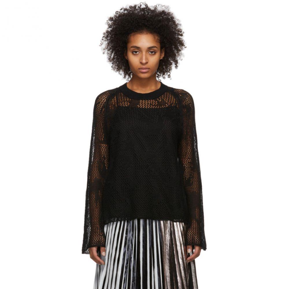 アレキサンダー マックイーン McQ Alexander McQueen レディース ニット・セーター トップス【Black Unoko Sweater】Dark black
