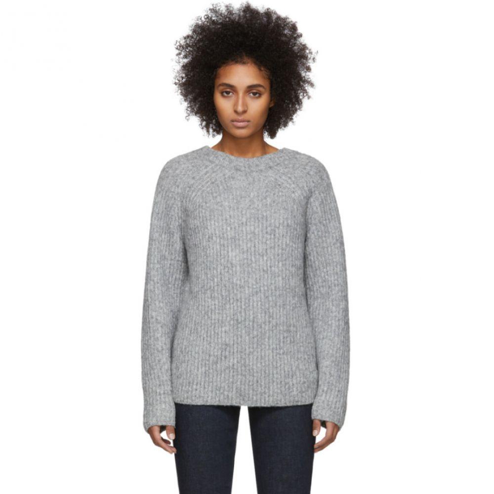ヘルムート ラング Helmut Lang レディース ニット・セーター トップス【Grey Wool & Alpaca Ghost Sweater】Grey melange