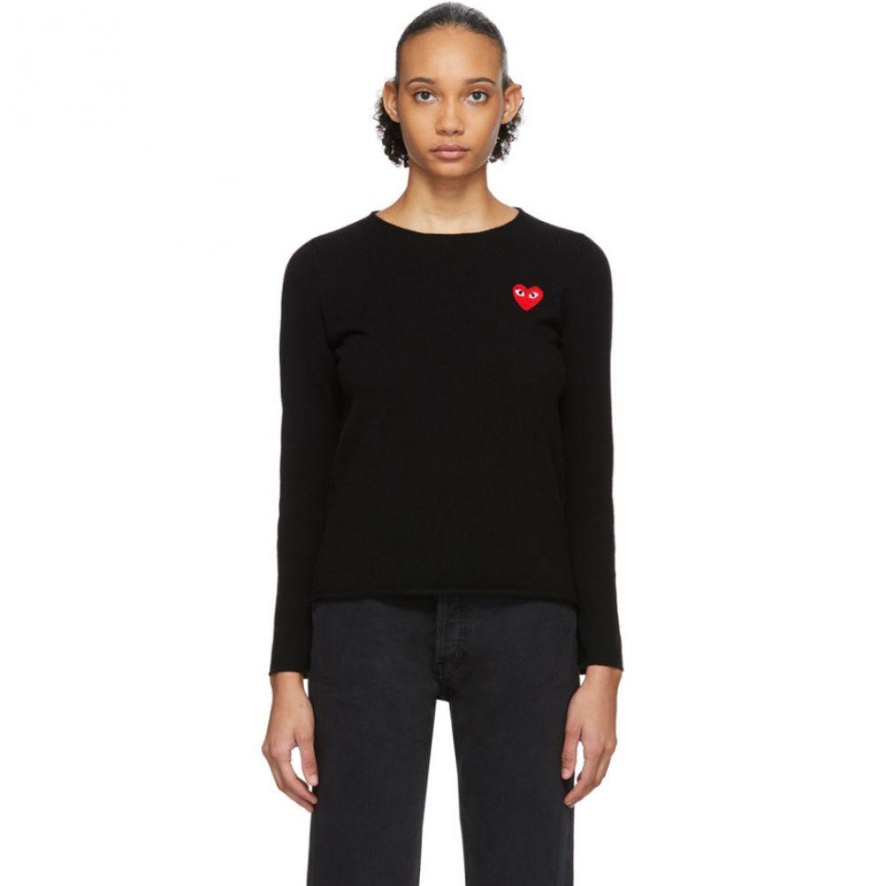 コム デ ギャルソン Comme des Garcons Play レディース ニット・セーター トップス【Black Heart Patch Sweater】Black