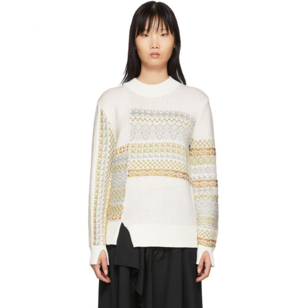 スリーワン フィリップ リム 3.1 Phillip Lim レディース ニット・セーター トップス【White Merino Series Patchwork Holiday Sweater】White
