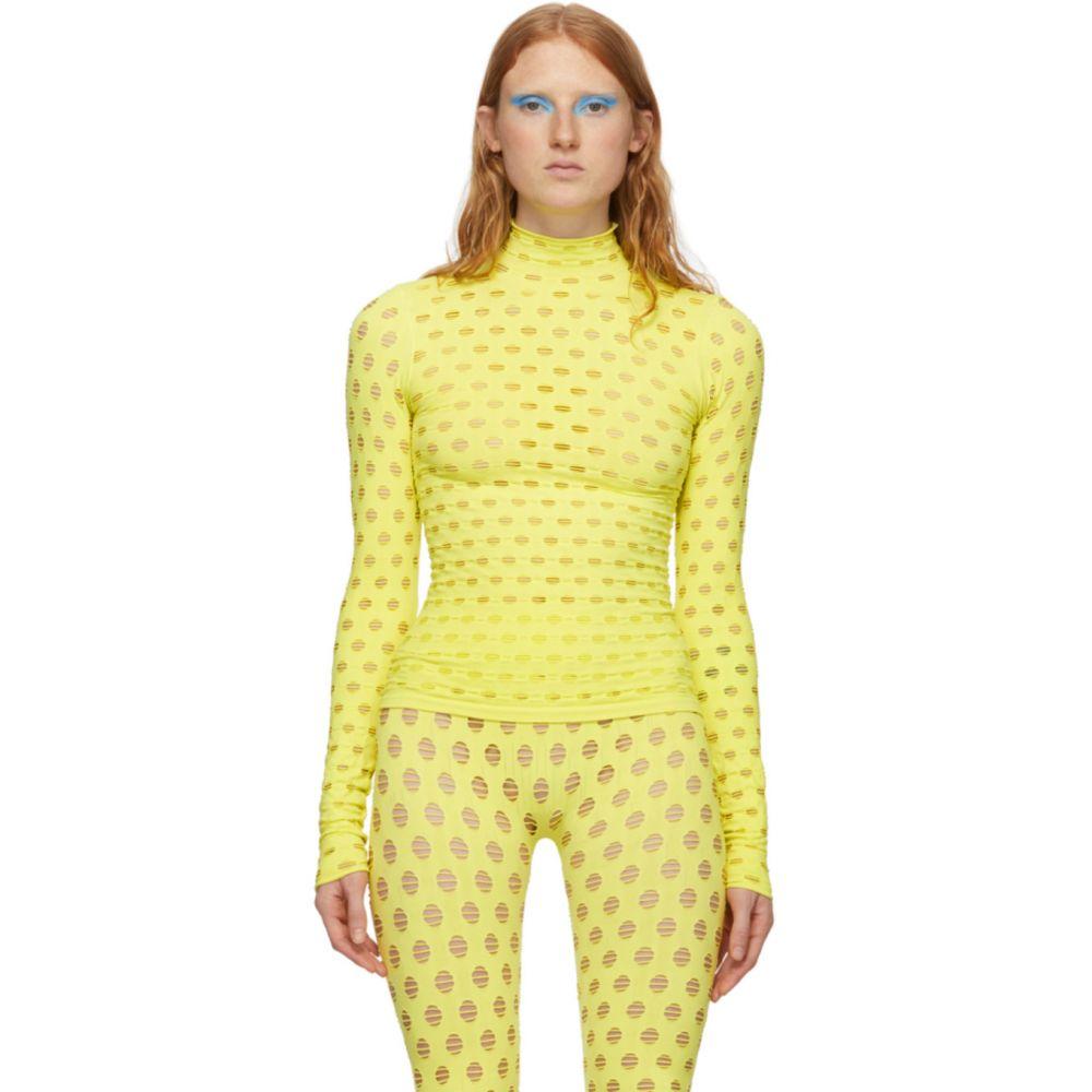 メイジー ウィレン Maisie Wilen レディース ニット・セーター トップス【Yellow Perforated Turtleneck】Yellow