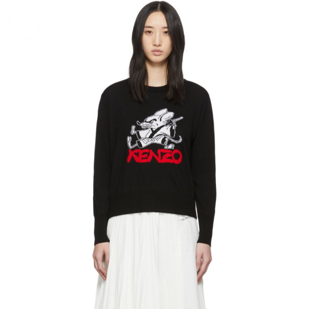 ケンゾー Kenzo レディース ニット・セーター トップス【Black Limited Edition Chinese New Year Kung Fu Rat Crewneck Sweater】Black