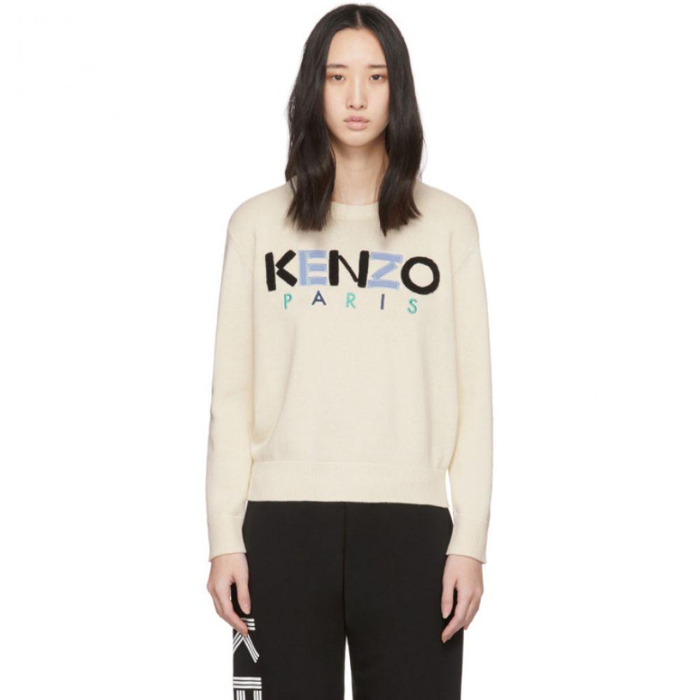 ケンゾー Kenzo レディース ニット・セーター トップス【Off-White ' Paris' Sweater】Ecru