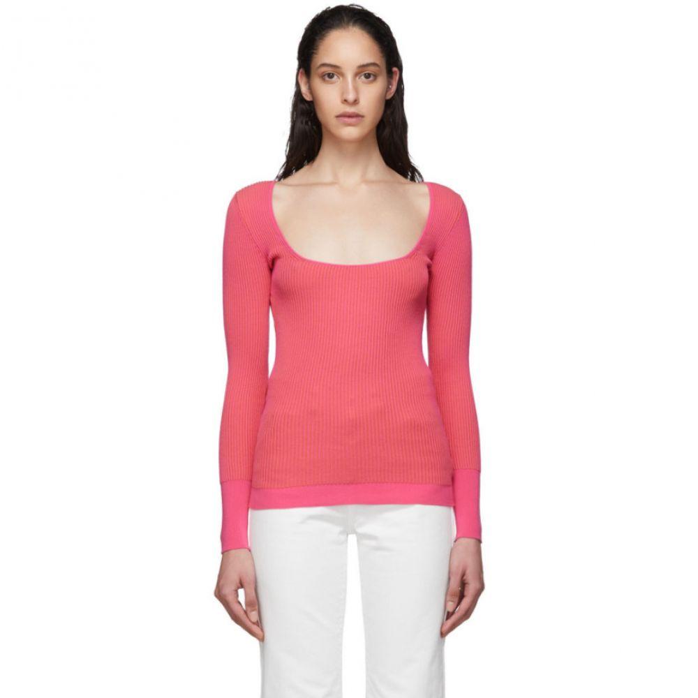 ジャックムス Jacquemus レディース ニット・セーター トップス【Pink 'Le Maille Rosa' Sweater】Pink striped