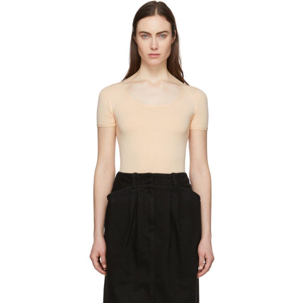 ルメール Lemaire レディース ニット・セーター トップス【Pink Second Skin Short Sleeve Pullover】Nude
