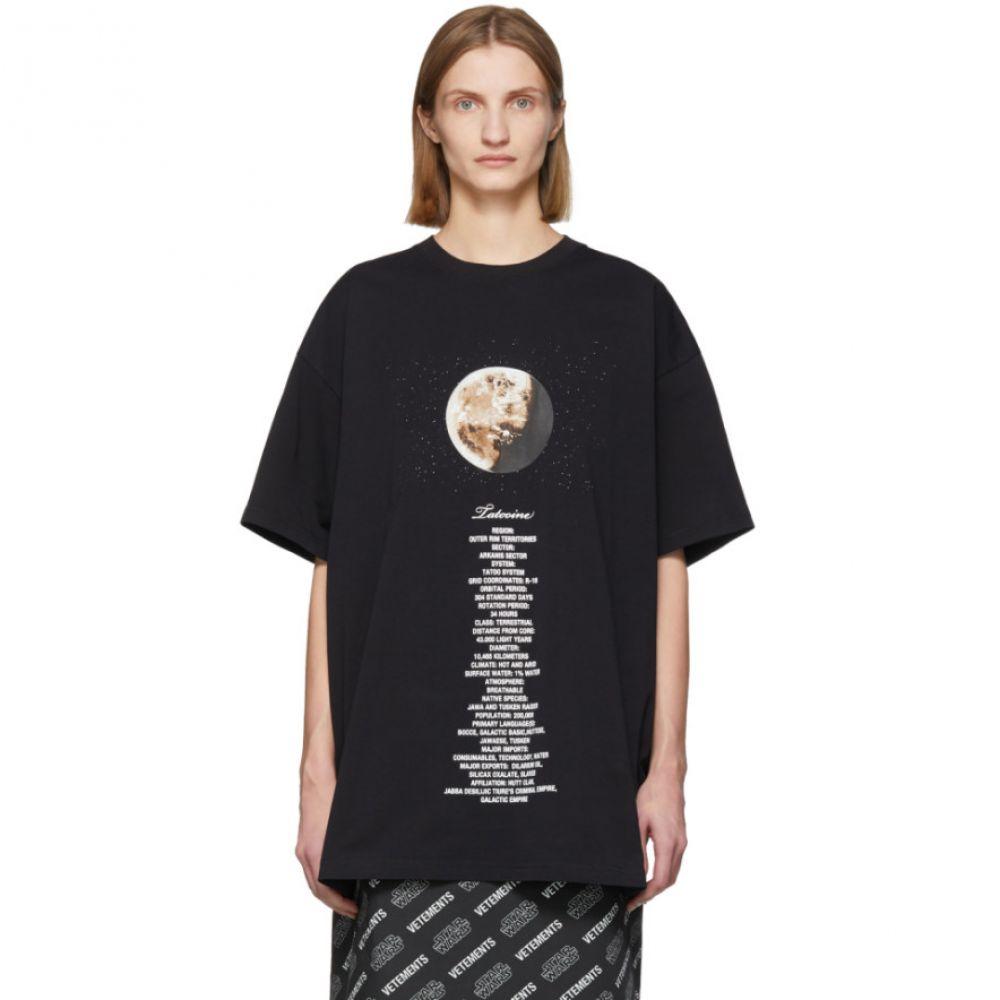 ヴェトモン VETEMENTS レディース Tシャツ トップス【Black STAR WARS Edition Tatooine Episode IV T-Shirt】Black
