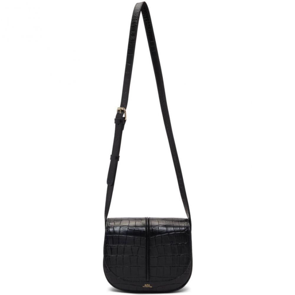 アーペーセー A.P.C. レディース ショルダーバッグ バッグ【Black Croc Betty Bag】Noir