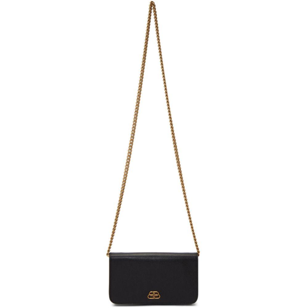 バレンシアガ Balenciaga レディース ショルダーバッグ バッグ【Black BB Phone Holder Shoulder Bag】Black