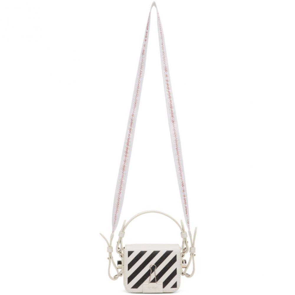 オフホワイト Off-White レディース ショルダーバッグ バッグ【White & Black Diag Baby Flap Bag】White/Black