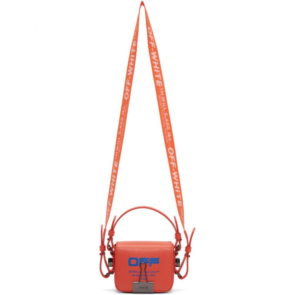 オフホワイト Off-White レディース ショルダーバッグ バッグ【Orange Wavy Logo Baby Flap Bag】Coral red/Blue