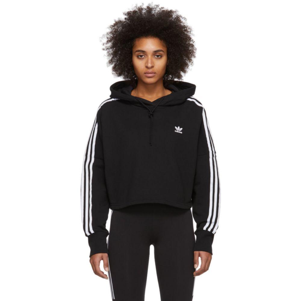 アディダス adidas Originals レディース パーカー トップス【Black Cropped Hoodie】Black