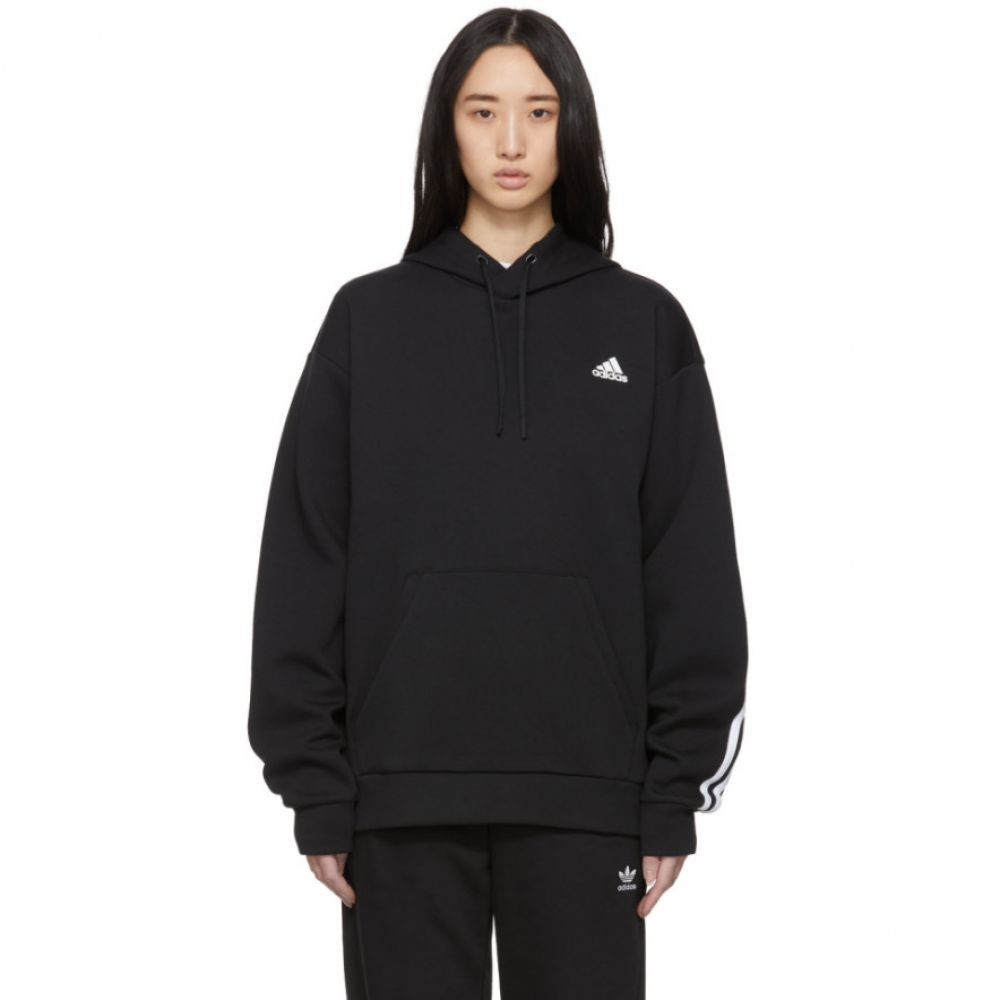 アディダス adidas Originals レディース パーカー トップス【Black Original 3-Stripes Hoodie】Black