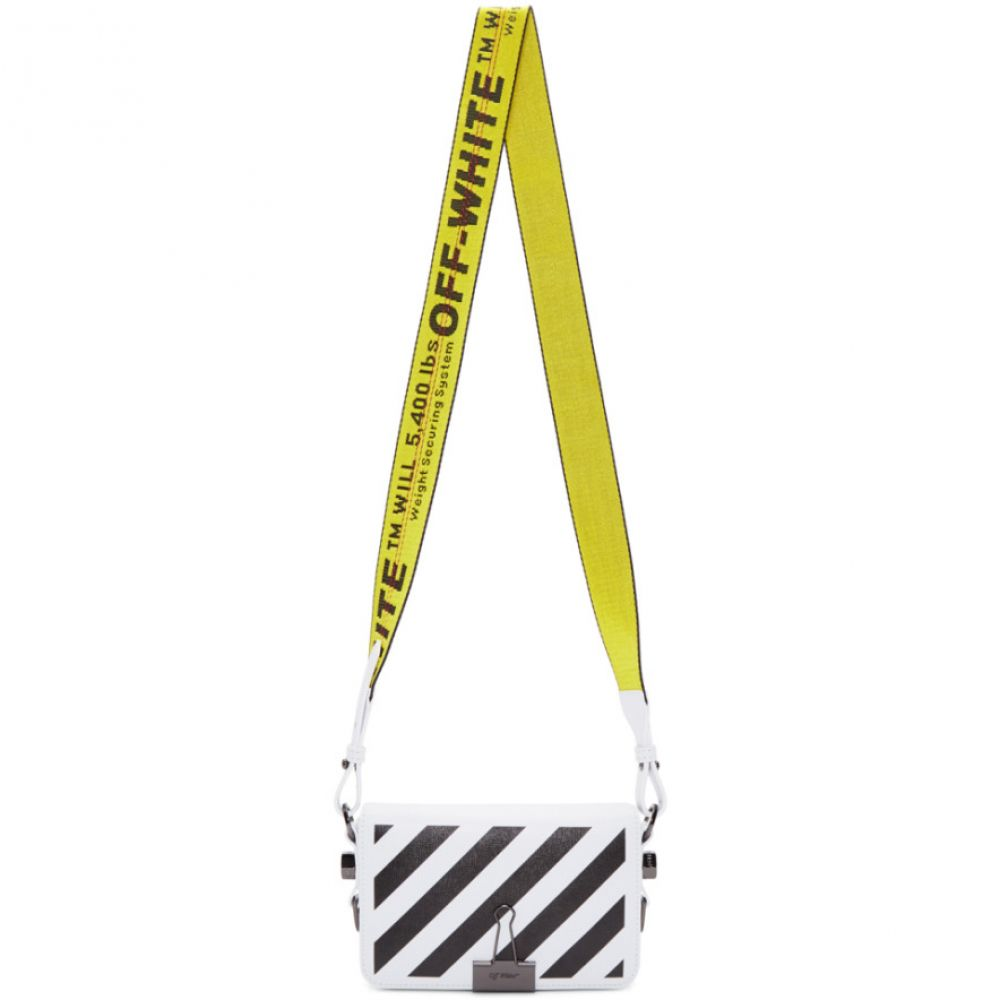 オフホワイト Off-White レディース ショルダーバッグ バッグ【White Mini Diag Flap Bag】White/Black