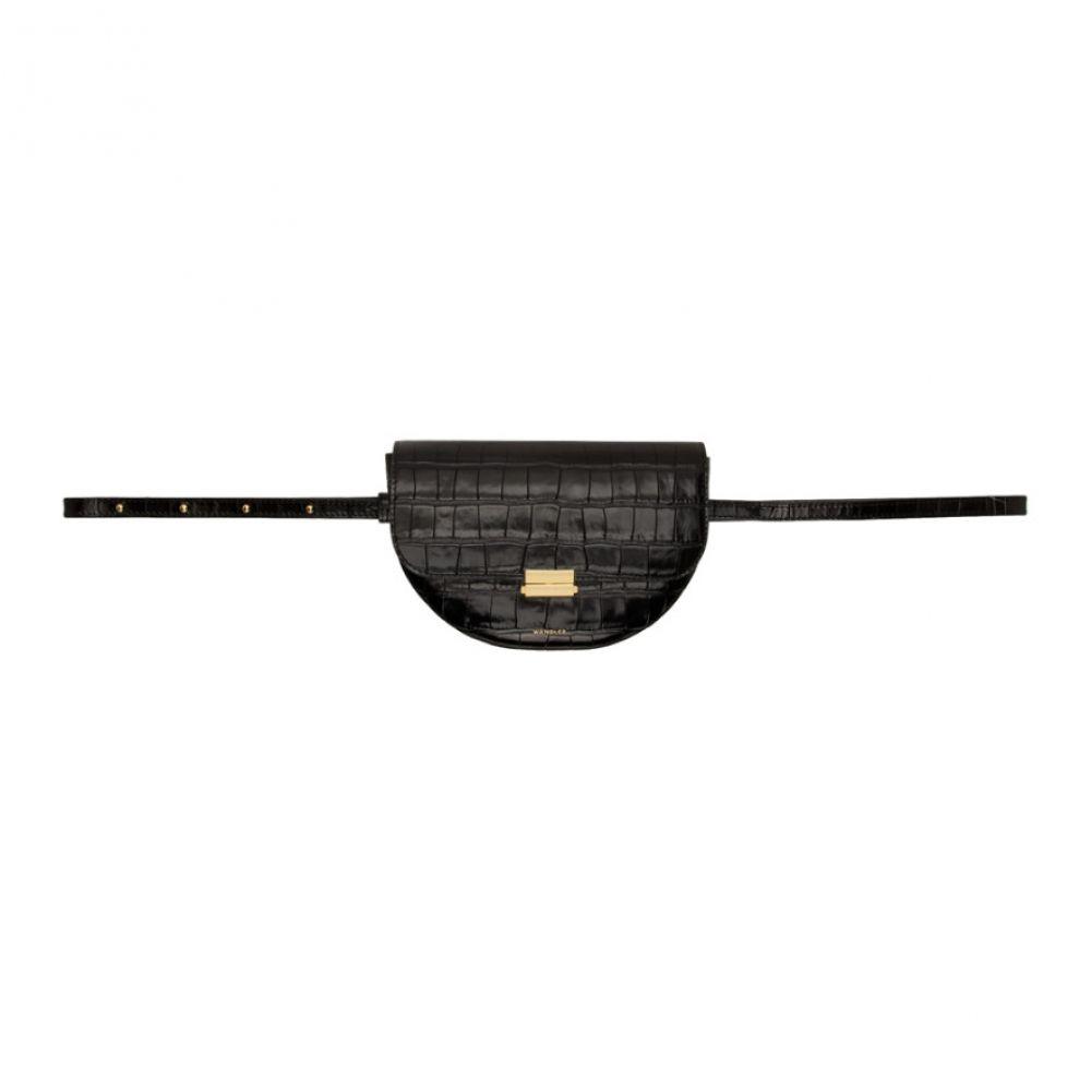 ワンダラー Wandler レディース ボディバッグ・ウエストポーチ バッグ【Black Croc Anna Belt Bag】Croc black