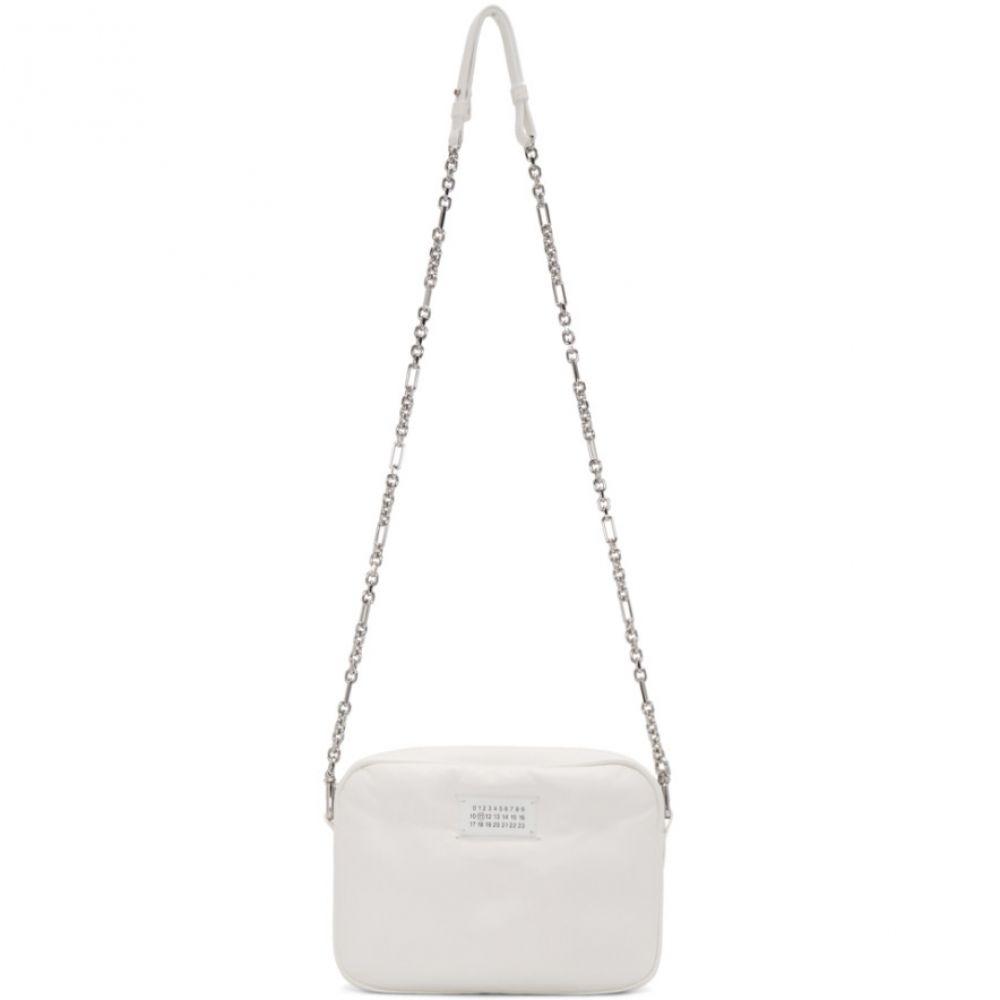 メゾン マルジェラ Maison Margiela レディース ショルダーバッグ バッグ【White Small Box Glam Slam Bag】White