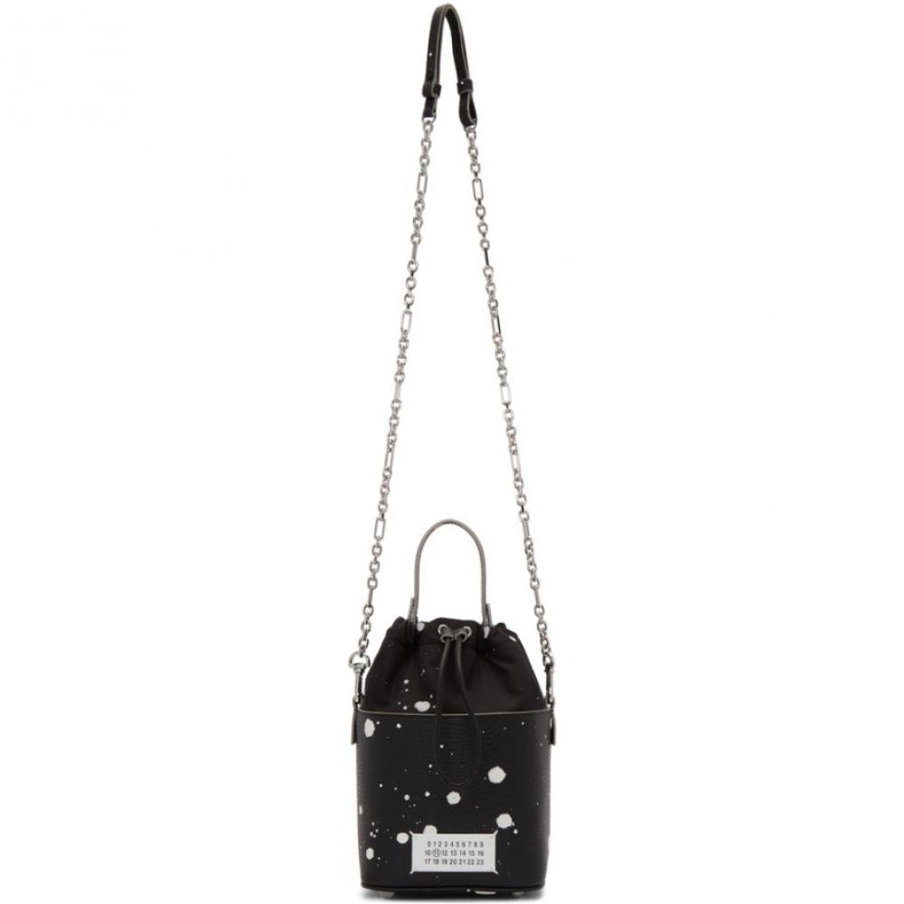 メゾン マルジェラ Maison Margiela レディース ショルダーバッグ バケットバッグ バッグ【Black Paint Splatter 5AC Bucket Bag】Black