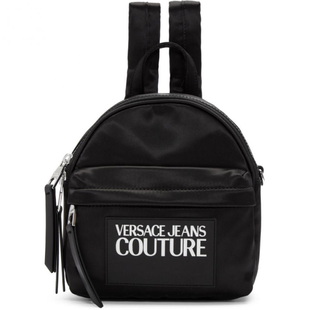 ヴェルサーチ Versace Jeans Couture レディース バックパック・リュック バッグ【Black Nylon Logo Backpack】Black