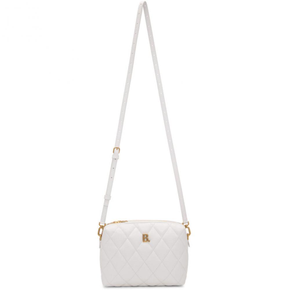 バレンシアガ Balenciaga レディース ショルダーバッグ カメラバッグ バッグ【White Quilted B. Camera Bag】White