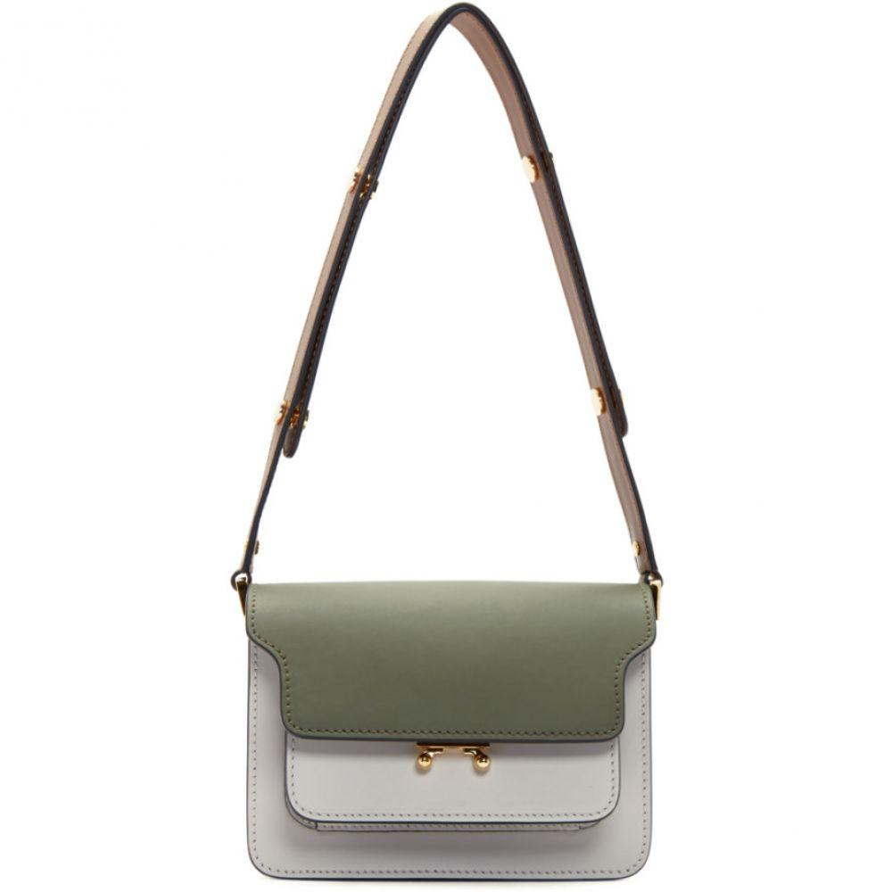 マルニ Marni レディース ショルダーバッグ バッグ【Green & Grey Mini Trunk Bag】Emerald