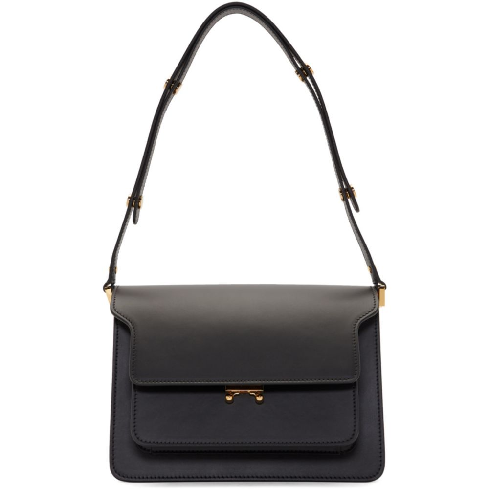 マルニ Marni レディース ショルダーバッグ バッグ【Black Smooth Medium Trunk Bag】Black