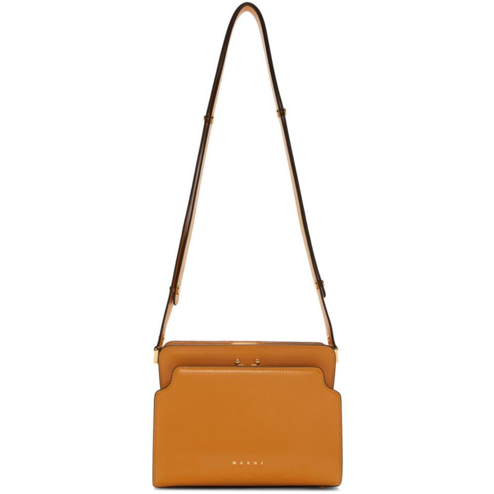 マルニ Marni レディース ショルダーバッグ バッグ【Orange Trunk Reverse Bag】Mustard