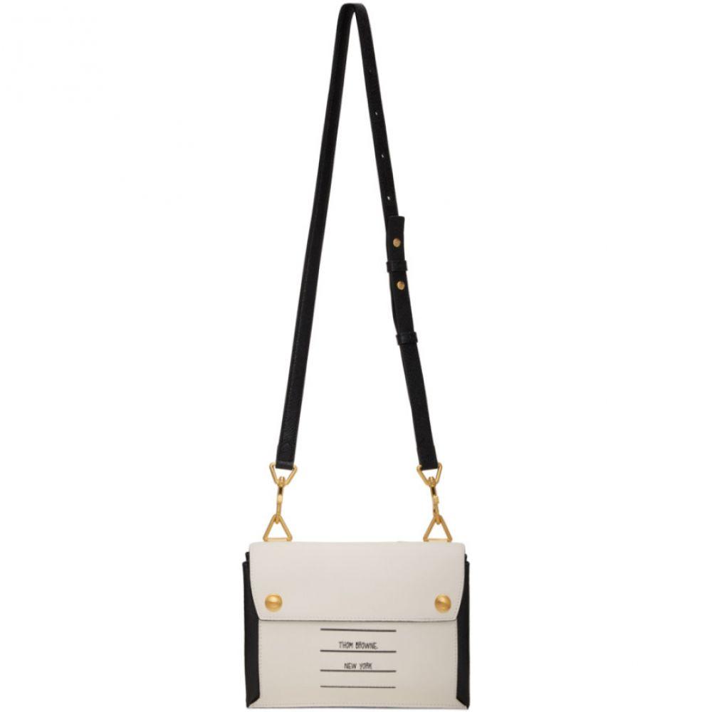 トム ブラウン Thom Browne レディース ショルダーバッグ バッグ【Black & White Paper Label Mail Envelope Bag】Black/White