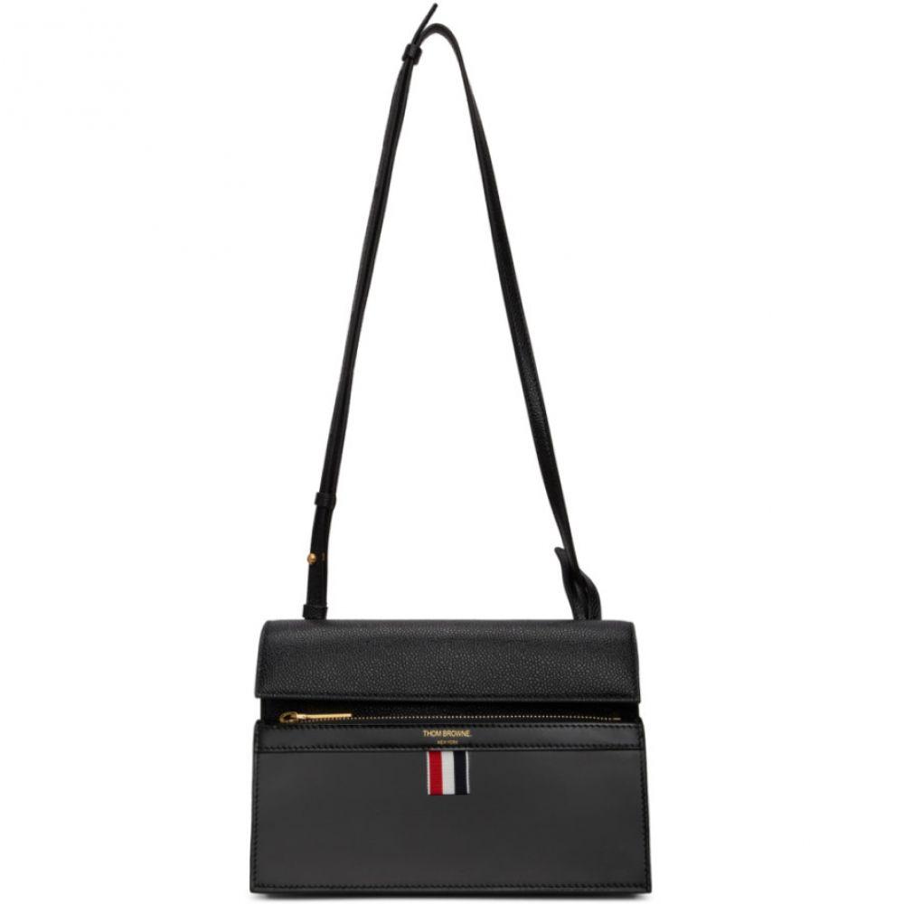トム ブラウン Thom Browne レディース ショルダーバッグ バッグ【Black Mini Lady Folio Bag】Black