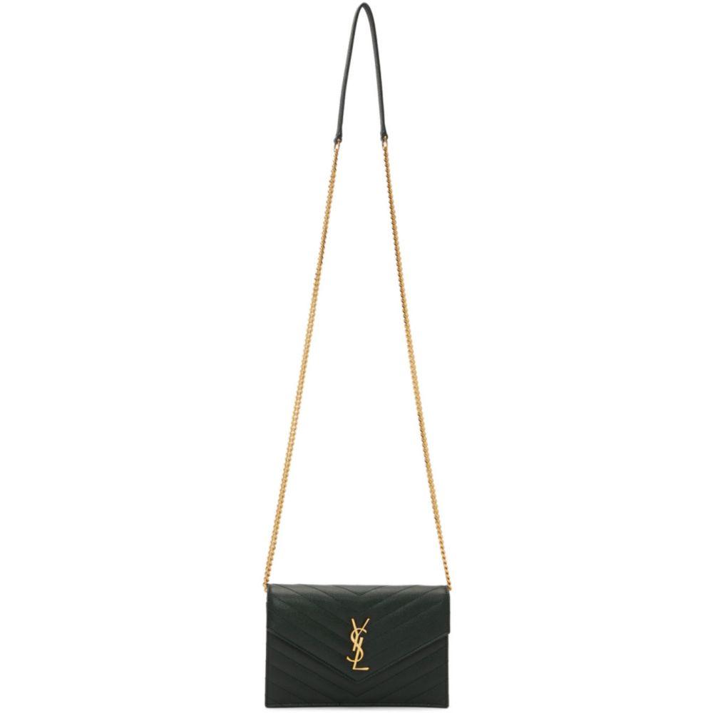 イヴ サンローラン Saint Laurent レディース ショルダーバッグ バッグ【Green Monogramme Envelope Chain Wallet Bag】Mint
