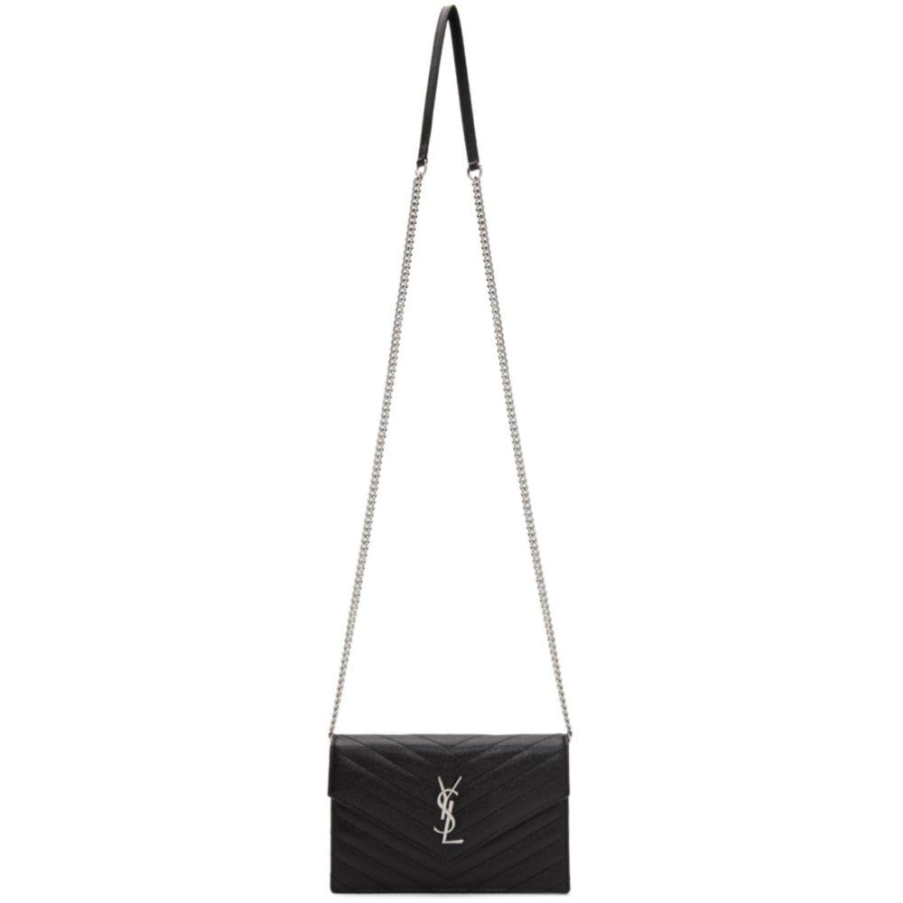 イヴ サンローラン Saint Laurent レディース ショルダーバッグ バッグ【Black Monogramme Envelope Chain Wallet Bag】Black