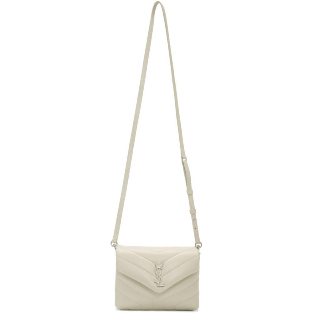イヴ サンローラン Saint Laurent レディース ショルダーバッグ バッグ【White Toy Loulou Bag】White