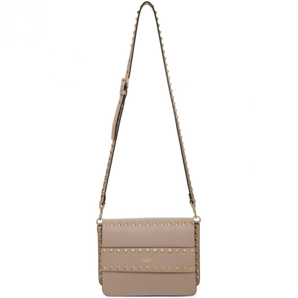 ヴァレンティノ Valentino レディース ショルダーバッグ バッグ【Pink Garavani Small Rockstud Shoulder Bag】Poudre