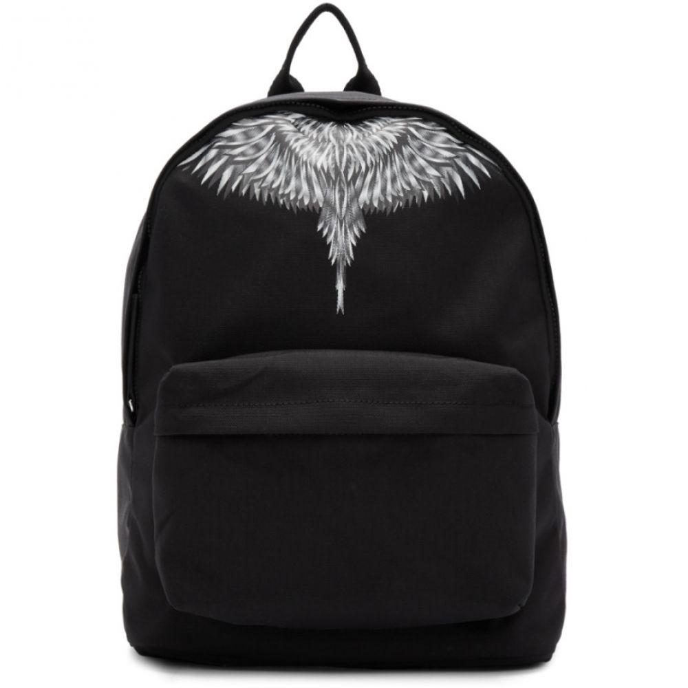 マルセロバーロン Marcelo Burlon County of Milan レディース バックパック・リュック バッグ【Black & Grey Sharp Wings Backpack】Black/White