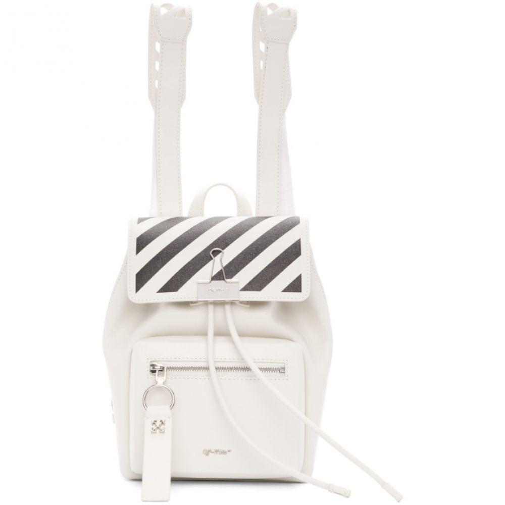 オフホワイト Off-White レディース バックパック・リュック バッグ【White Diag Backpack】White/Black